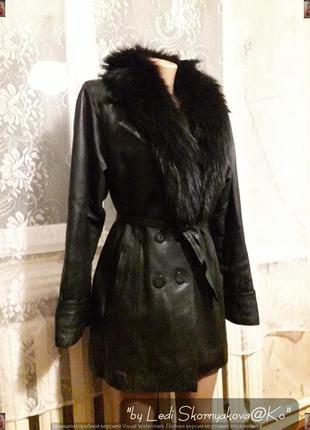 Кожанная куртка/плащ деми (скандинавия), размер 46-48