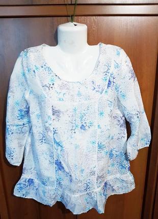 Элегантная шелковая блузка размера 50-521 фото