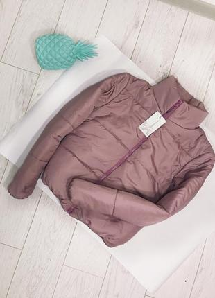 Стильная куртка на весну пудра
