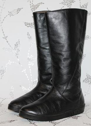Немецкие кожаные сапоги на цигейке 40/25,5 см стелька