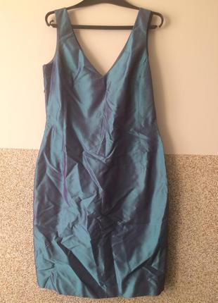 Шикарное шелковое платье дикий шелк чесуча!