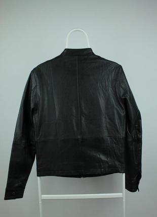 Шикарная оригинальная кожаная курточка бомбер topman размер s3