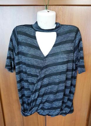 Стильная футболка в полоску размера 54-56