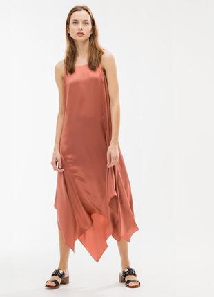 Шелковое платье uterque ,размер на этикетке xs