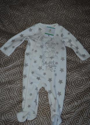 Новый слип пижама человечек disney 6-9 мес рост 68-74