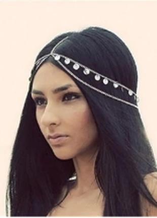 Тика восточное индийское украшение для волос в бохо этно стиле