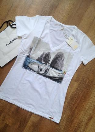 Крутая футболка от итальянского бренда ean13. кристаллы swarovski в декоре.