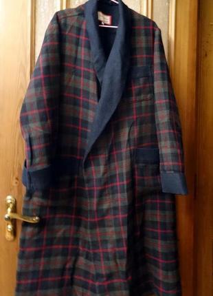 Теплый мужской халат большого размера