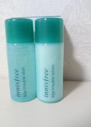 Набор миниатюр для проблемной кожи innisfree bija trouble dual kit