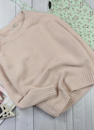 Мягкий плюшевый свитер нежного цвета