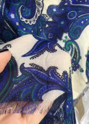 Красивый,большой шарф,палантин,накидка в принт огурцы,этно стиль