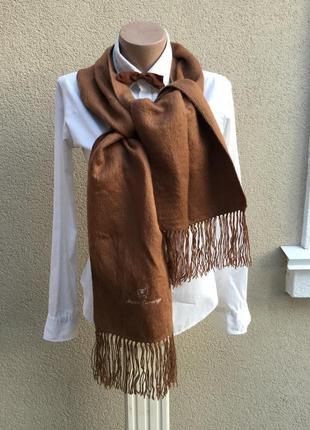 Мягкий,пушистый шарф с бахромой,эксклюзив,100%альпака7