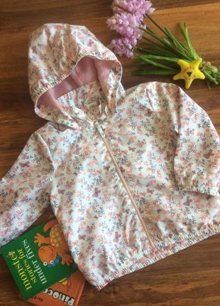 Нежная ветровка,дождевик,куртка для маленькой малышки h&m 12-18 месяцев.