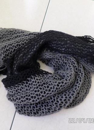 Двосторонній шерстяний шарф