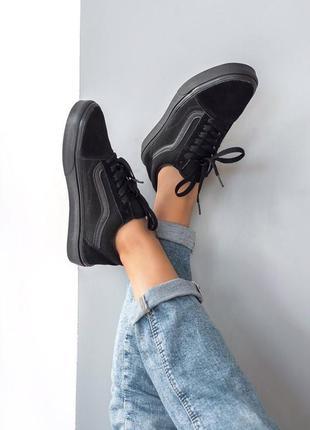 Шикарные женские кеды  кроссовки vans old school black 😍 (весна  лето   осень f77ed20199da1