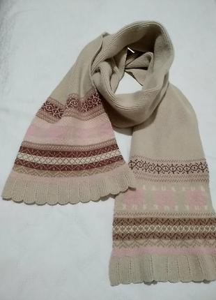Очень теплый шарф 19х160
