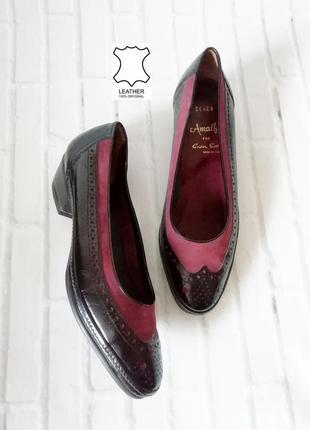 Новые итальянские туфли от amalfi цвета марсала  - 34 размер