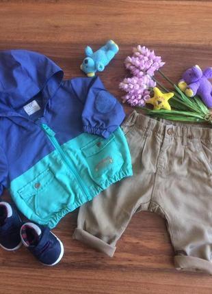 Шикарный комплект ветровка,куртка,джоггеры,брюки для парня next.zara  3-6 месяцев.