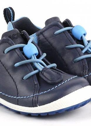 Кожаные ботиночки ecco biom детские размер 19 туфли оригинал
