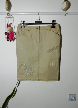 Джинсовая юбка миди max mara