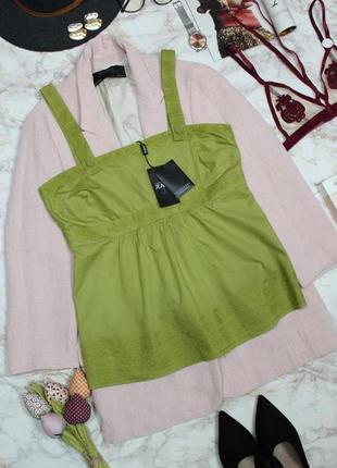 Обнова! топ блуза блузка этно бохо вышивка коттон качество фисташка новая