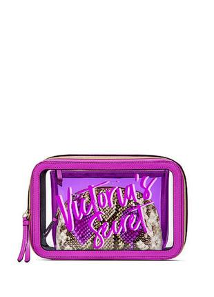 Набор косметичек victoria's secret cosmetic bag trio. 	 10499