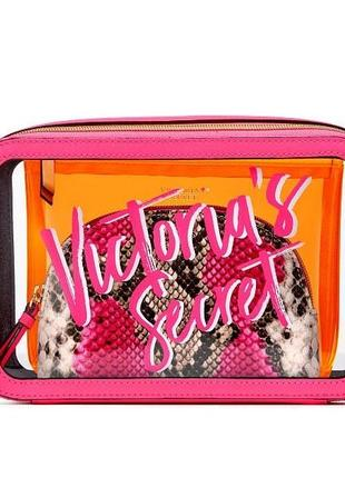 Набор косметичек victoria's secret cosmetic bag trio. 	 10500