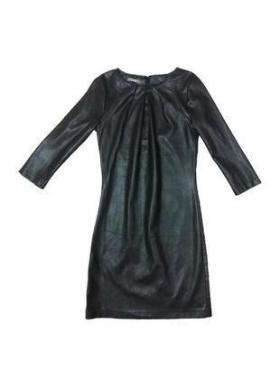 Кожаное платье hema