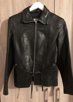 Куртка кожаная приталенная zara