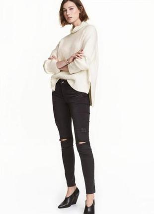 Оригинальные джинсы-skinny regular jeans от бренда h&m разм. 32