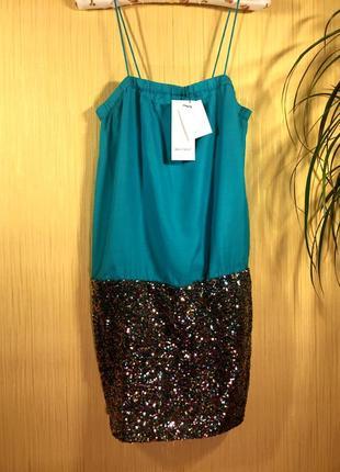 Финальный sale новых вещей! see u soon новое короткое секси платье с пайетками франция