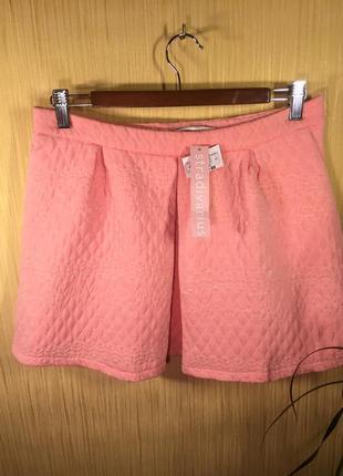Финальный sale новых вещей! stradivarius фактурная юбка в объемные квадратики, узоры
