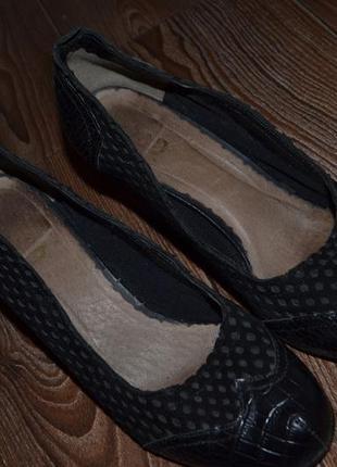 Кожаные туфли 38р сост идеал