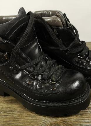 Ботинки кожаные vaga bond, кожаные, треккинговые, черные, оч хор сост!
