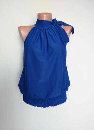 Нарядная блуза, стойка на завязку, с открытыми руками. krisp  10(38)
