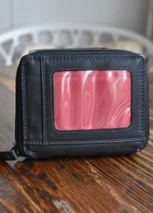 Кожаный кошелек визитница / шкіряний гаманець2
