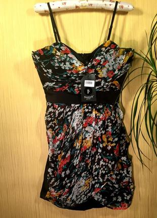 Финальный sale новых вещей! платье с атласной спинкой и регулируемыми бретелями