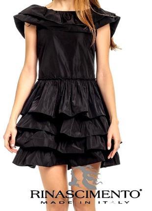Финальный sale новых вещей! rinascimento новое элитное черное маленькое платье с воланами