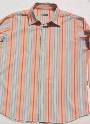 Mexx. полосатая рубашка с длинным рукавом. 45 ворот.