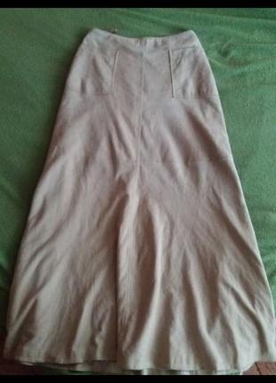 Шикарная юбка замша ваниль10 фото