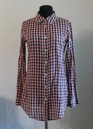 Удлиненная рубашка в клетку,р.s