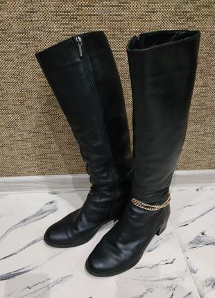 Натуральная кожа кожаные сапоги сапожки чоботи зима люкс качество