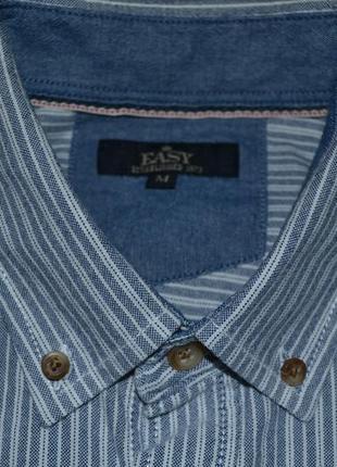 Плотная рубашка ф. matalan р. м ворот 42 см новая бангладеш хлопок