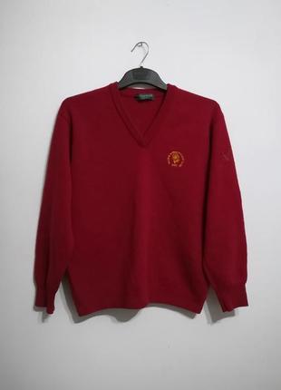 Шерстяной свитер lyle and scott (шотландия) s-m