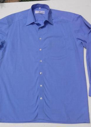 Royal class. тонкая голубая рубашка с длинным рукавом. есть нюанс.