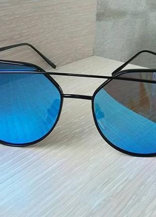 Солнцезащитные очки , цвет линз голубой2 фото