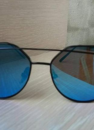 Солнцезащитные очки , цвет линз голубой3 фото