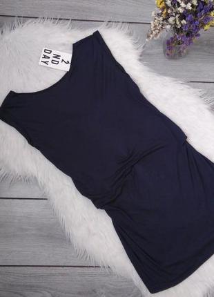 2nd day 100% вискозв новое платье с ценником синее оригинальное  xs 34 6 42