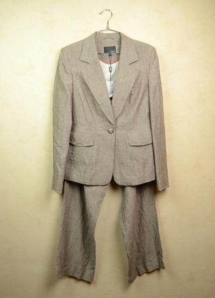 Next льняной брючный костюм 12 размер
