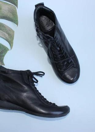 39 25см nehir кожаные комфортные ботинки на шнуровке